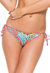 Slip brasiliano scrunch colorato con strass - CALCINHA MARIPOSITA CRYSTALLIZED