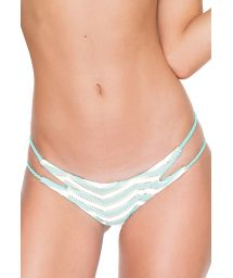 Pale green textured bikini bottom - CALCINHA MARITZA MALECON GREEN