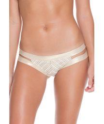Strappy white/gold mesh bikini bottom - CALCINHA NEFERTITI