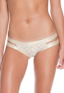 Strappy white/gold mesh bikini bottom - CALCINHA NEFERTITI