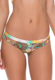 Swim tanga with cut-outs, mixed prints - CALCINHA PAISLEY CROSS