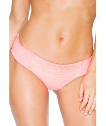 Coral pink/gold bi-material bikini bottoms - CALCINHA PARADISE PINK CORAL