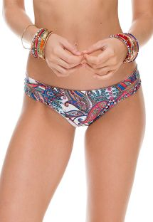 Print swim bottom with cut out side panels - CALCINHA REBELDIA
