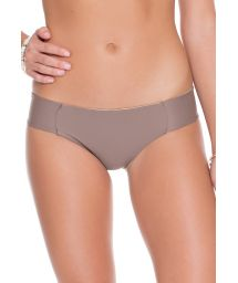 Reversible taupe/gold swimsuit bottom - CALCINHA REVERSIBLE SANDY TOES