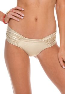 Slip sgambato in stile scrunch, color oro - CALCINHA SPORTY GOLD RUSH