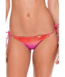 Textured tie-dye scrunch bikini bottom - CALCINHA SUNSET COLOR