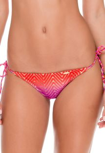 Textured tie-dye scrunch bikini bottom - CALCINHA SUNSET COLOR