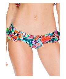 Flounced bathing suit bottom with butterfly print - CALCINHA VIVA CUBA RUFFLE