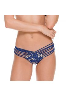 Sexy blue scrunch bottom with strappy sides and lace - CALCINHA WANTED STRAPPY