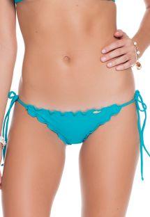 Slip brasiliano blu acqua, con laccetti laterali - CALCINHA WAVEY EXUMA