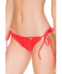 Fluo red scrunch tanga wavy sides - CALCINHA WAVEY FIRE