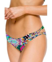 Reversible bikini bottoms with intertwined straps - CALCINHA ZIGZAG REVERSIBLE VIVA