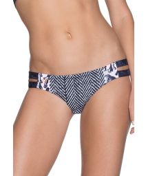 Two-tone mixed print swimsuit bottom - BOTTOM ACANDI WAVES
