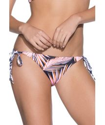 Palm tree/geometric swimsuit bottom to tie - BOTTOM CHOCO CHOCOLATE