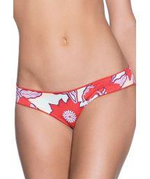 Reversible floral print/orange red bikini bottom - BOTTOM CINNAMON DIVINE