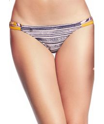 Färgglada bikinibyxor med gul baksida - BOTTOM COCONUT QUIMDIM