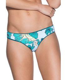 Dark green reversible floral string bikini bottoms - BOTTOM EVERGLADE HILLS