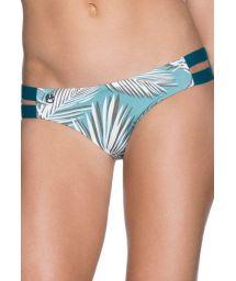 Green/palm-print bikini briefs with double-strap sides - BOTTOM GUADUA BRIDGE