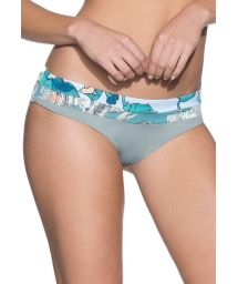 Mixed-print briefs with contrasting waistband - BOTTOM ITS KNOT COLUMBIA