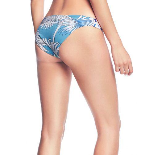 Blue bikini briefs in stripes and flowers - BOTTOM JEN-CHEE LINDA