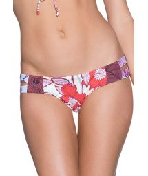 Fixed bikini bottom in floral print with cut-outs - BOTTOM SCARLET CACIQUE