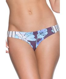 Striped/floral mixed-print string bikini bottoms - BOTTOM SIERRA NEVADA