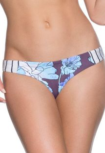 Striped/floral mixed-print string bikini bottoms - BOTTOM SIERRA NEVADA