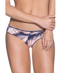 Reversible palm trees/dark blue swimsuit tanga - BOTTOM STARGAZER SWIRL