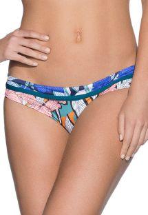 Blomstrede brasilianske bikinitrusser med blåmønstret kant - BOTTOM TAYRONA PARK