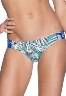 Green/blue palm-print bikini briefs - BOTTOM TROPIC FOLIAGE