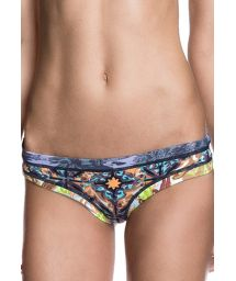 Fixed swimsuit bottom with assorted prints - CALCINHA GLAM O RAMA