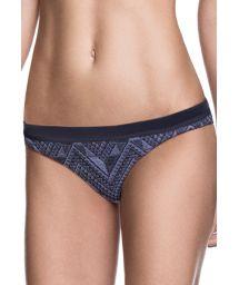 Reversible printed Brazilian bikini bottom - CALCINHA JACQUARD FUNKY
