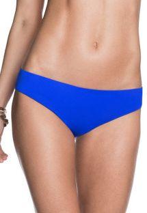 Reversible print/plain blue swimsuit bottom - CALCINHA POOLSIDE SUBLIM