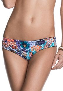 Black/floral print reversible swimming bottoms - CALCINHA SHADOW SUBLIM