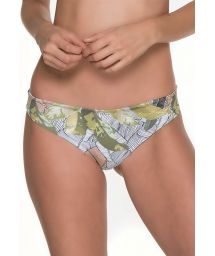 Wide sided Brazilian bottoms in leaf print - BOTTOM BALBISIANA