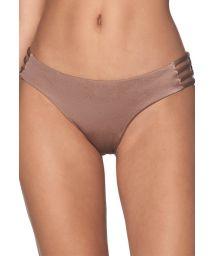 Iriserande mörkgrå bikini nedredel med sidoband - BOTTOM BENEGAL SPARKLY TAUPE