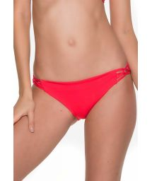Red bathing suit bottom with criss-cross sides - BOTTOM CHIEF TRI CHERRY