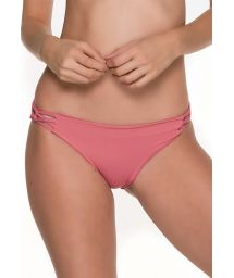 Bathing suit bottom with criss-cross sides - BOTTOM CHIEF TRI ROSE
