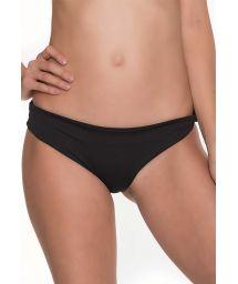 Fixed, black Brazilian bikini bottom - BOTTOM JOLLY COLIBRI HIGH NECK