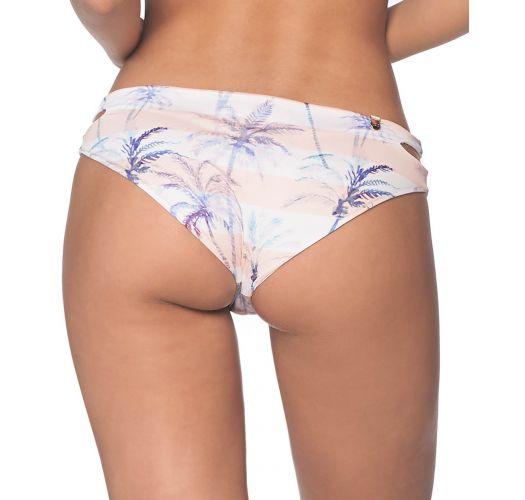 Tropical pastel bikini bottom with side cutout - BOTTOM KARA CALI PALMS