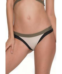 Beige Brazilian bikini bottom with contrasting edging - BOTTOM MULTY MANTIS
