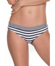 Black and white striped swimsuit bottom - BOTTOM RAMAYA