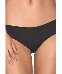 Black fixed scrunch bikini bottom - BOTTOM RUFFLE BLACK