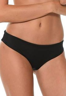 Black scrunch hipster bikini bottoms - CALCINHA AURUM ONYX