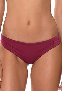 Braguita de bikini tipo scrunch color ciruela no escotada - CALCINHA AURUM SANGRIA