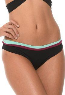Dreifarbige sportliche feste Bikinihose - CALCINHA COLOR BLOCK ONYX