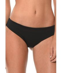 Black scrunch hipster-cut bikini bottoms - CALCINHA FLOWER REEF