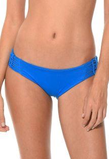 Blaue Bikinihose mit Makramee-Seiten - CALCINHA HAPPY HATCH AZUL