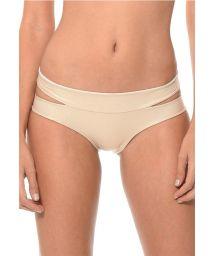 Shiny gold cut-out bikini bottoms - CALCINHA SOLSTICE DORADO
