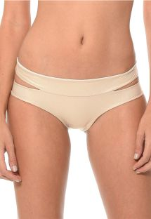 Shiny gold cut-out bikini bottoms - CALCINHA SOLSTICE DORADO